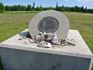 memorial to Helen Betty Osborne at the Guy Hill Indian Residential School historic site