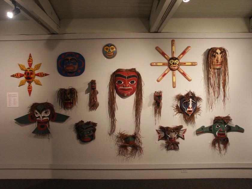 Kwantlen carved ,masks