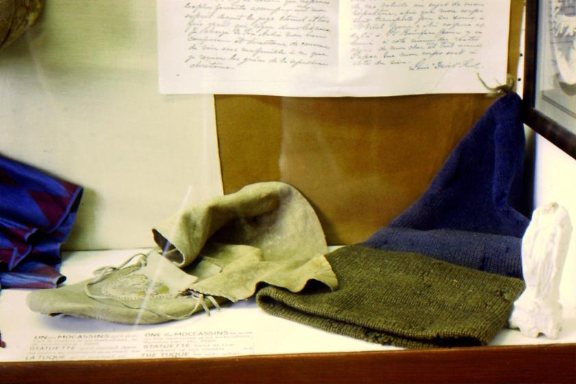Louis Riel's moccasin and tuque worn at his hanging
