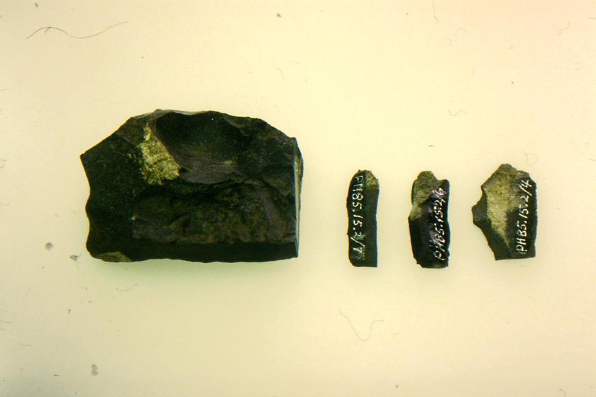stone core & flakes