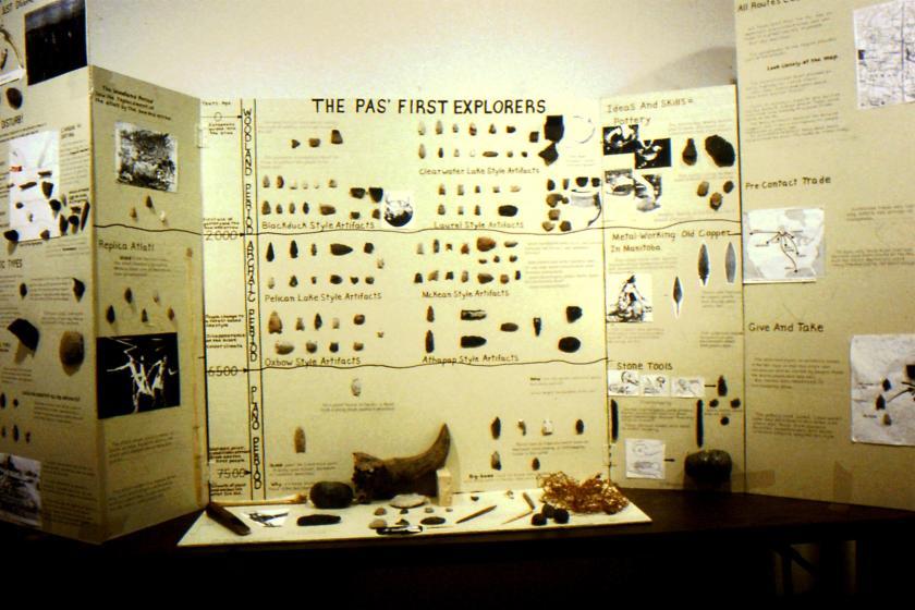 mockup of archaeological exhibit