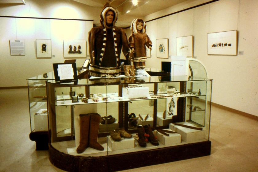 Exhibit of art and artifacts from Pagnirtung