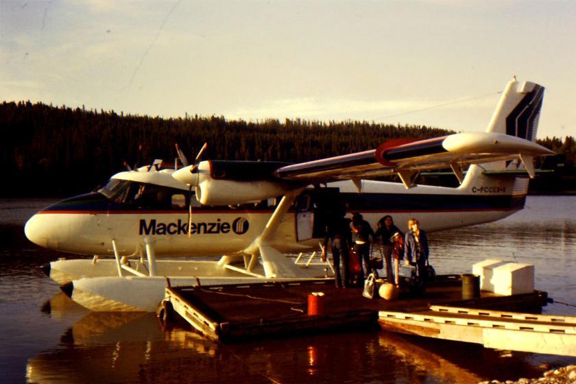 twin engine bush plane on floats
