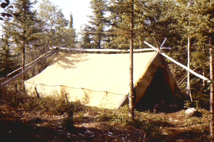 tent that was home to the author