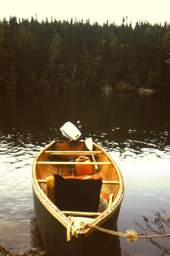 canoe with outboard motor