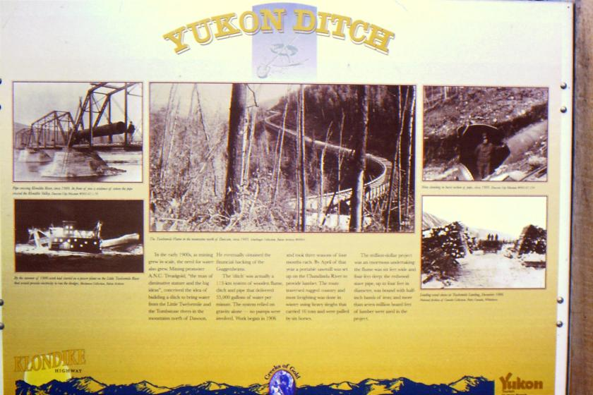 plaque for Yukon Ditch