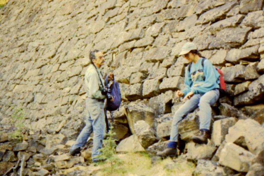 Greg Skuce & Barb Hogan at base of dam.