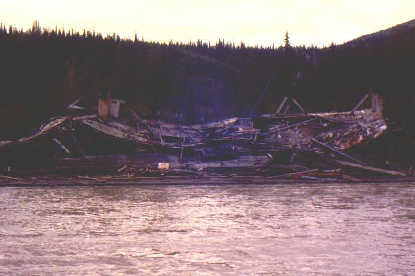 steamboat wreck on north bank of Yukon River near Dawson City