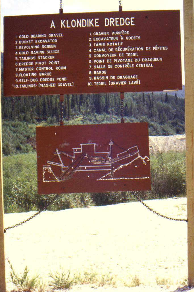 Diagram of placer mining dredge