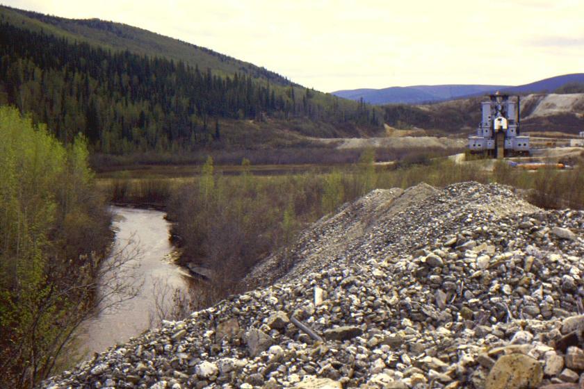 dredge tailings on Bonanza Creek