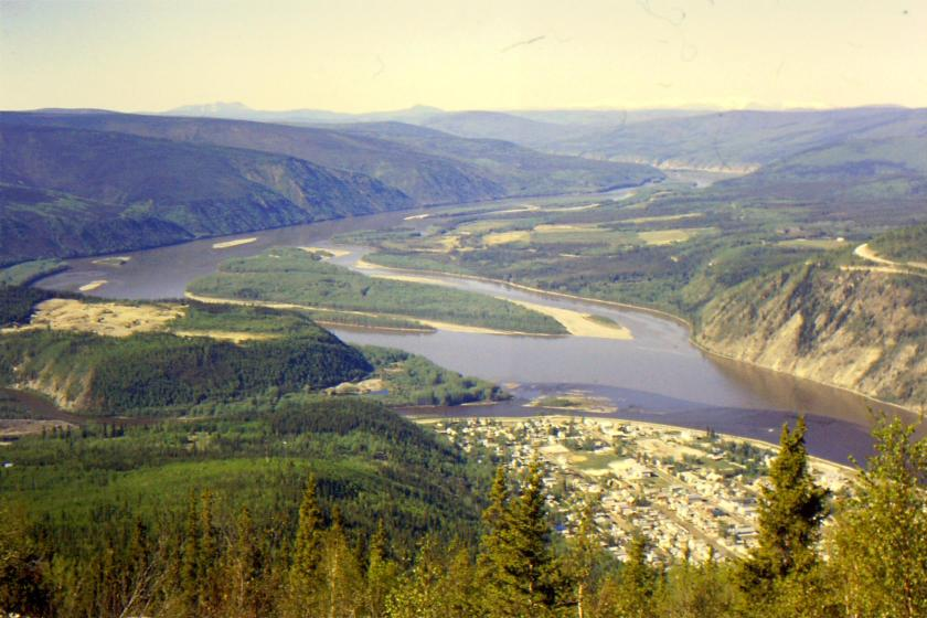 confluence of the Klondike River with the Yukon River