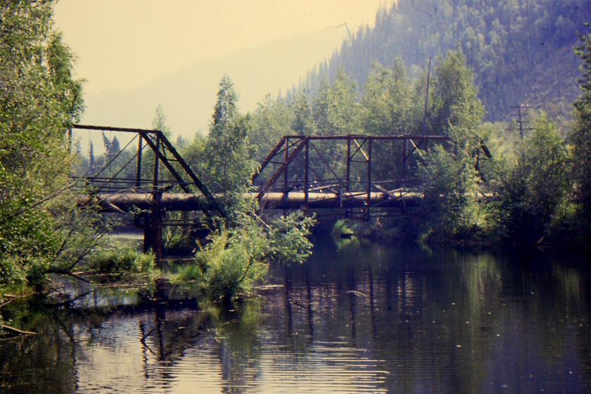 Yukon Ditch aqueduct structure