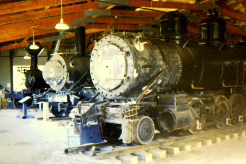 3 locomotives salvaged from Klondike City