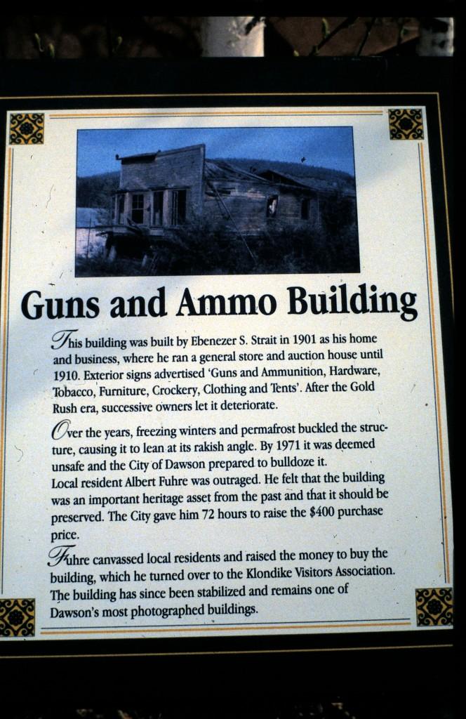 Guns & Ammo Building historic plaque